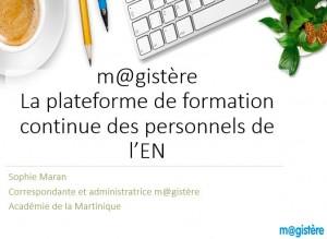 m@gistère (Diapo) &  catalogue 2019 des offres de parcours.