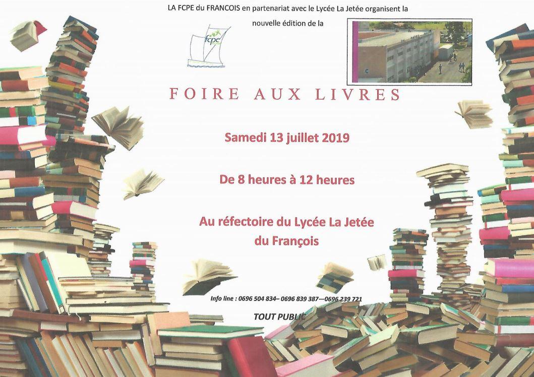 Foire aux livres  au LPO «la Jetée» le samedi 13 juillet  de 8h à 12h.